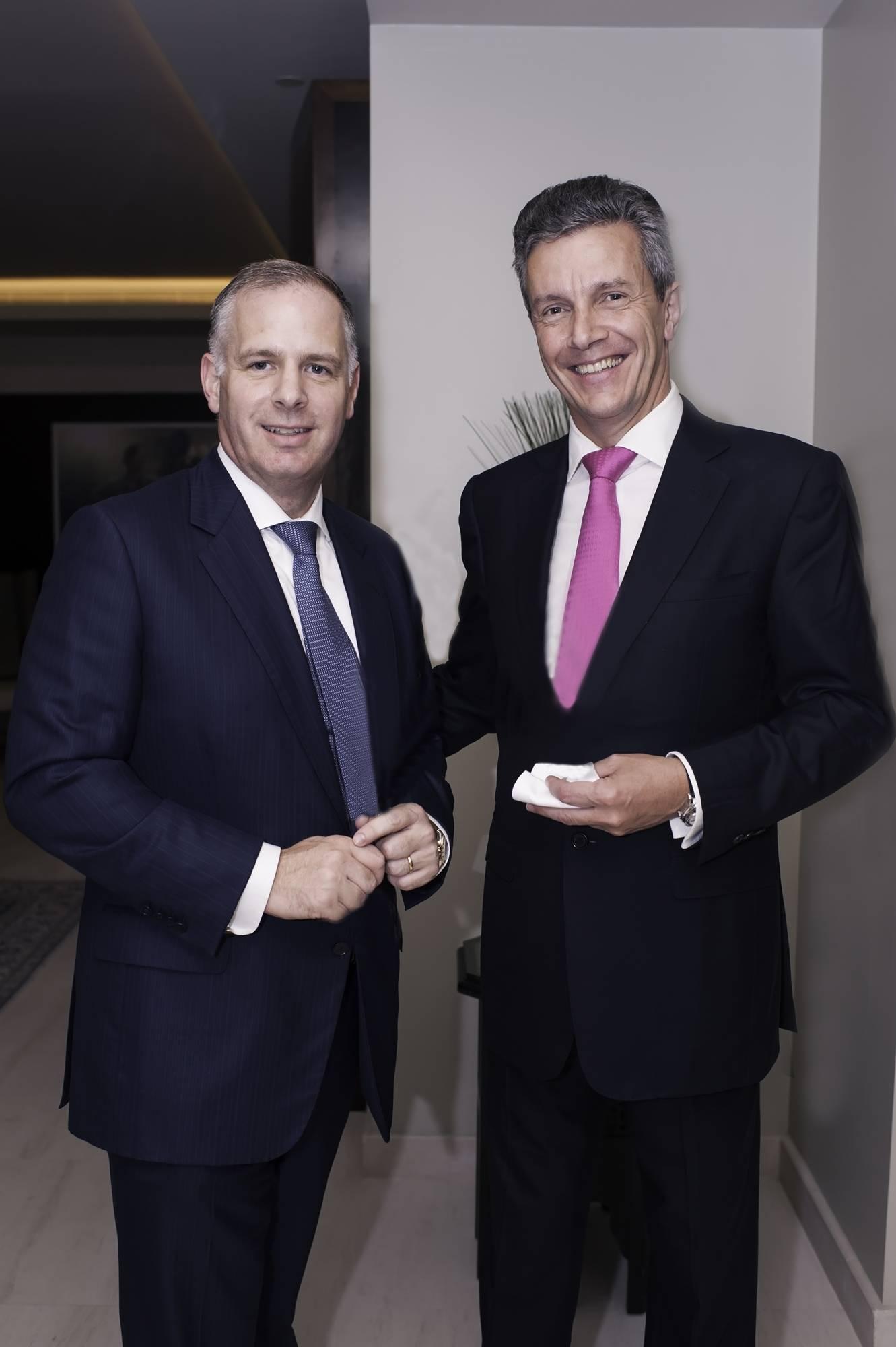 Park Hyatt Dubai's GM Adrian Slater and Jaeger-LeCoultre's CEO Daniel Riedo copy