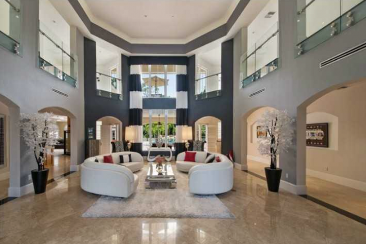 Raised Ceilings in Jason Derulo's Coconut Creek home