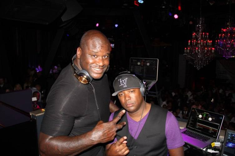 SHAQ and J Nice in the DJ Booth at Chateau Nightclub