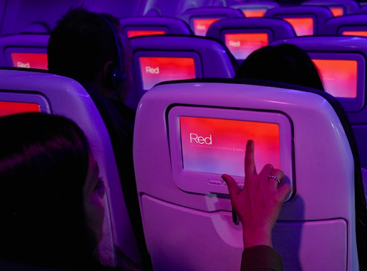 Red Beta in-flight entertainment system