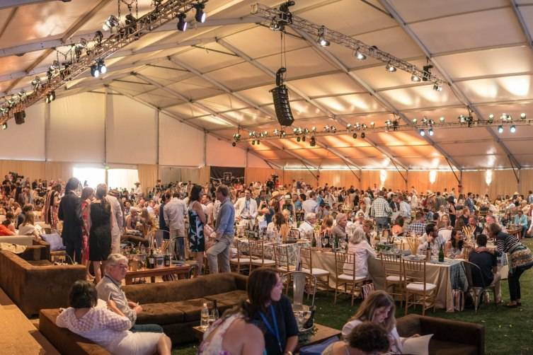 The tent during Auction Napa Valley.