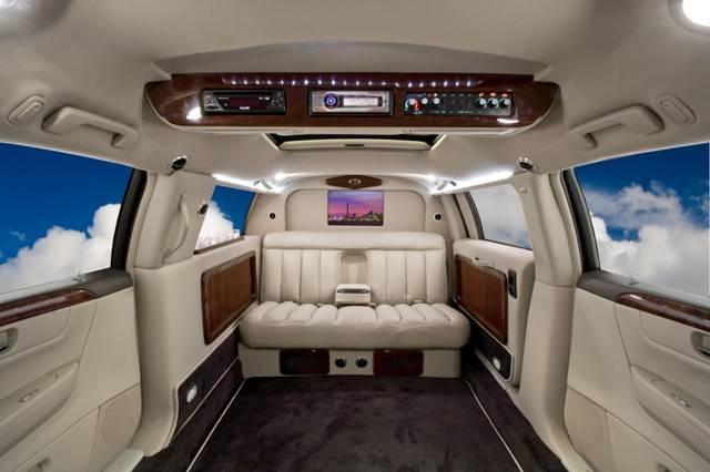 Interior of a luxury armored vehicle manufactured by Texas Armoring Corporation via Fllickr.