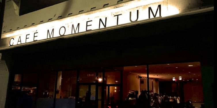 Cafe Momentum is located downtown.