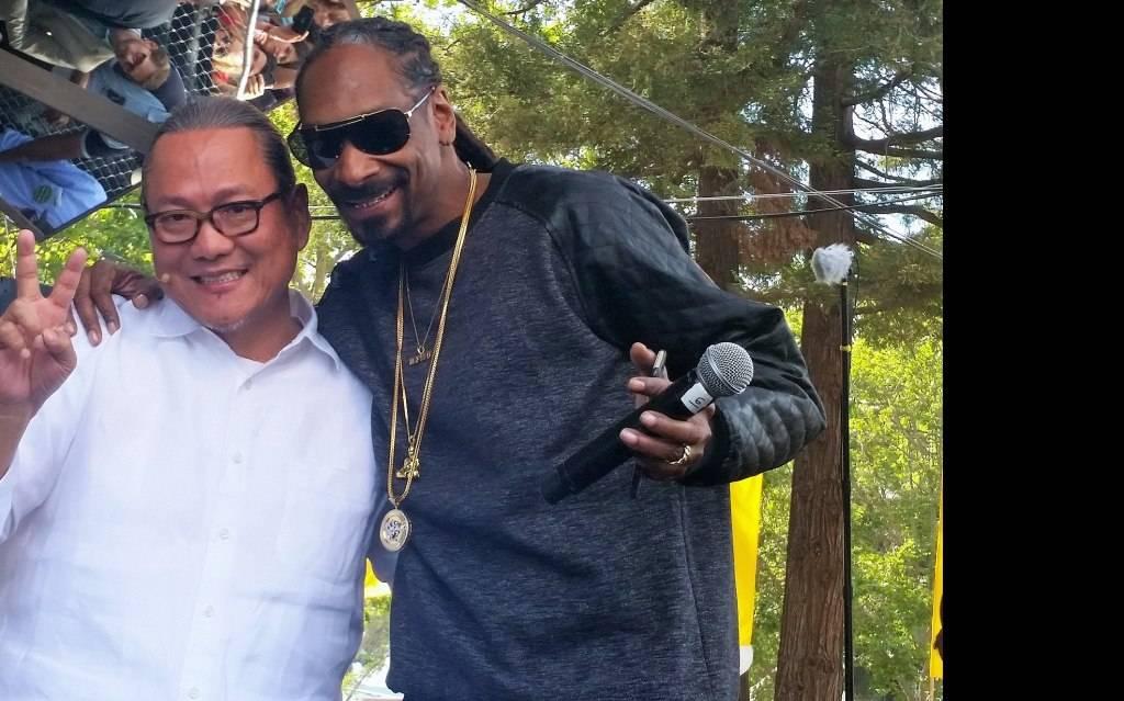 Chef Masaharu Morimoto and Snoop Dogg at BottleRock 2015