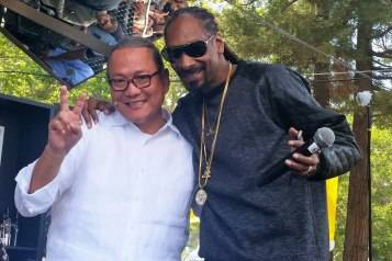 Chef Masaharu Morimoto and Snoop Dogg at BottleRock 2015