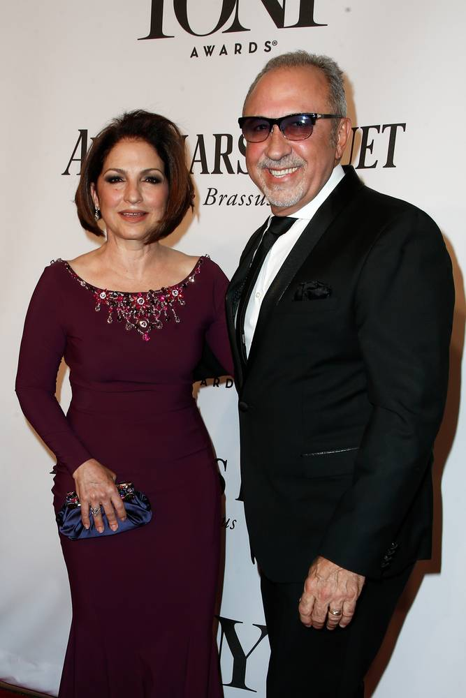 Singer Gloria Estefan (L) and husband Emilio Estefan attend American Theatre Wing's 68th Annual Tony Awards at Radio City Music Hall on June 8, 2014 in New York City.
