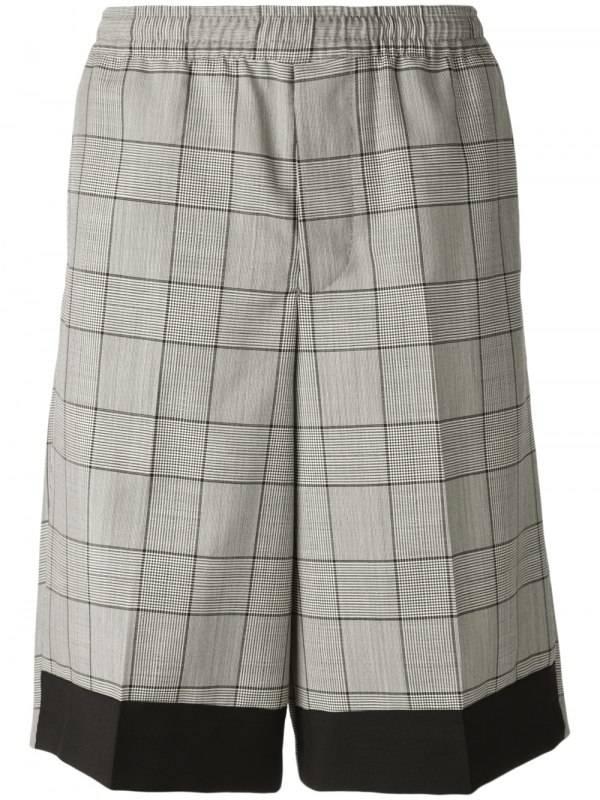 Kris Van Assche check shorts