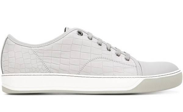 Lanvin Crocodile Effect Sneakers