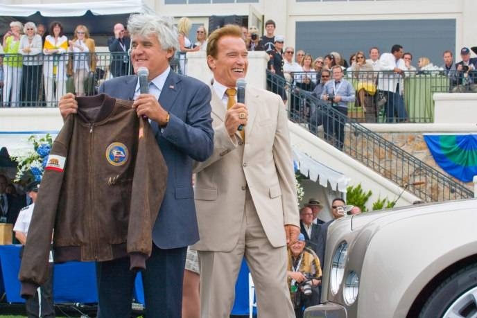 Exhibit Year:2009, Notes:Jay Leno and Governor Arnold Schwarzenegger