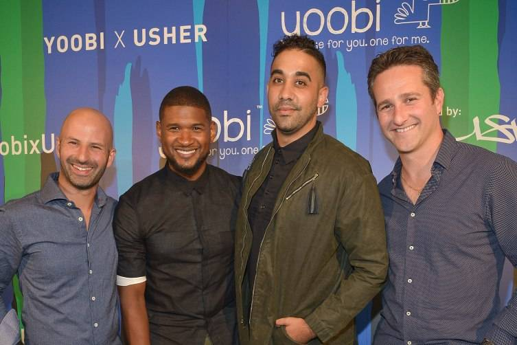 Usher Celebrates Charitable Collaboration with Yoobi 1
