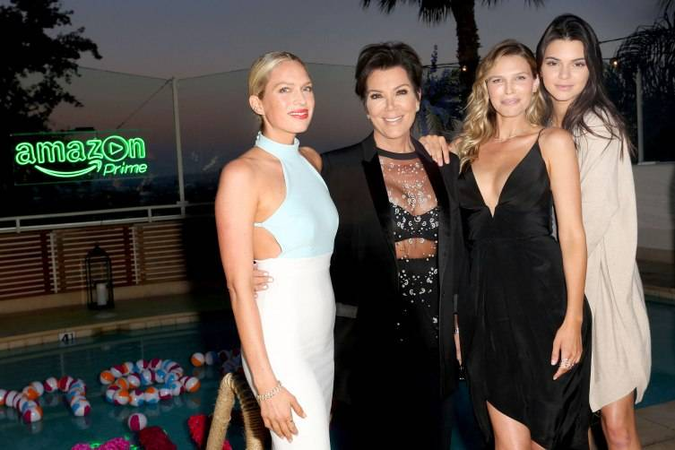 Erin Foster, Kris Jenner, Sara Foster, and Kendall Jenner attend Amazon Prime Summer Soiree hosted by Erin Foster and Sara Foster at Sunset Towers on July 16, 2015 in West Hollywood, California.