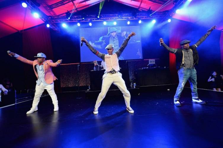 WATER MILL, NY - JULY 18:  Michael Bivins; Ronnie DeVoe; Ricky Bell of Bell Biv DeVoe perform on stage at Russell Simmons' Rush Philanthropic Arts Foundation Celebrates 20th Anniversary At Annual Art For Life Benefit at Fairview Farms on July 18, 2015 in Water Mill, New York.  (Photo by Andrew Toth/Getty Images for Rush Philanthropic Arts Foundation)