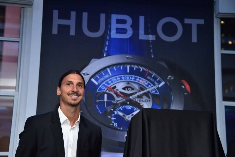 NEW YORK, NY - JULY 22:  Zlatan Ibrahimovic attends the launch of Hublot's latest timepiece with Paris Saint-Germain Team and celebrates partnership In New York City on July 22, 2015 in New York City.  (Photo by Mike Coppola/Getty Images for Hublot)