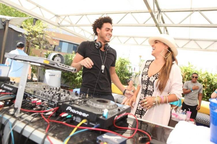 AcE aka Trey Smith and Sheree Fletcher at Palms Pool & Dayclub