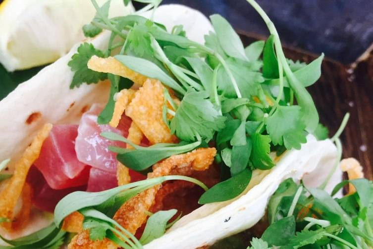 Acqualina -- Tuna Tacos