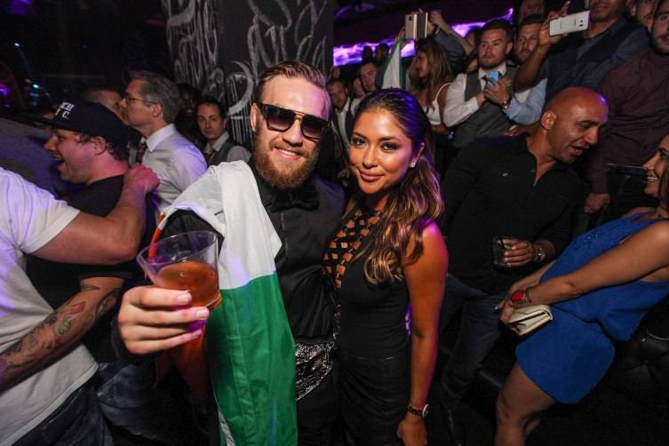 Conor McGregor and Arianny Celeste at Foxtail Nightclub
