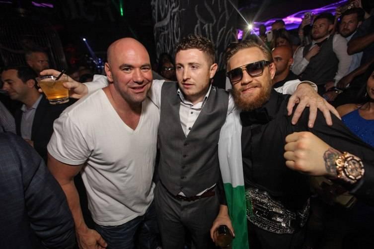Conor McGregor with UFC President Dana White