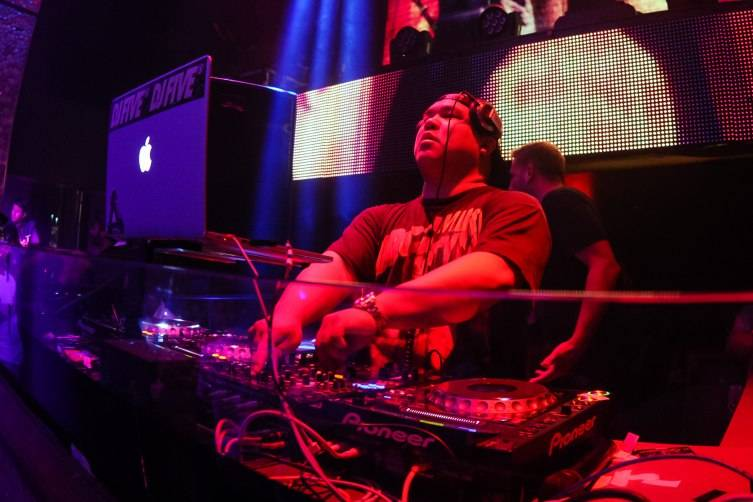 DJ Five on the ones and twos at TAO's Worship Thursday_7.16.15