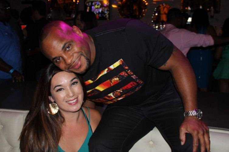 Daniel Cormier with a friend at Chateau Nightclub