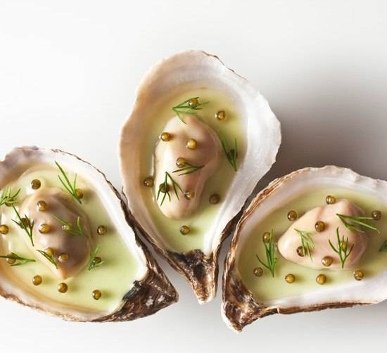 Oyster Vichyssoise prepared by Daniel Humm, Executive Chef of Eleven Madison Park, NY.