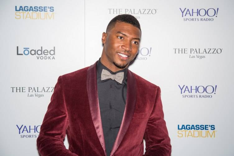 Former Football Star Gerome Sapp on the red carpet of the Palazzo Broadcast Studio Party