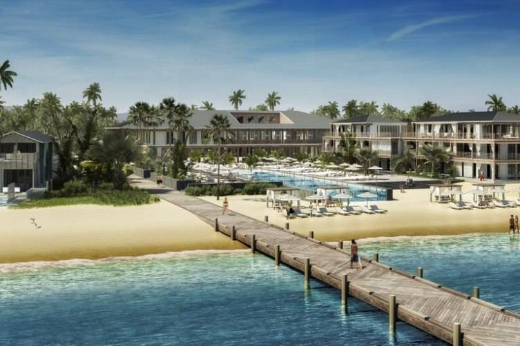 Redering of the beachfront at Itz'ana