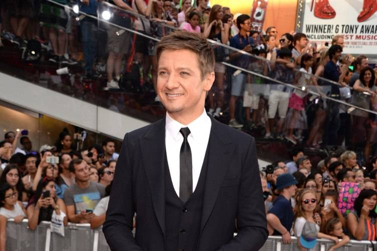 Jeremy Renner wearing a Jaeger-LeCoultre Master Ultra Thin Tourbillon at the New York Premiere of Mission Impossible - Rogue Nation
