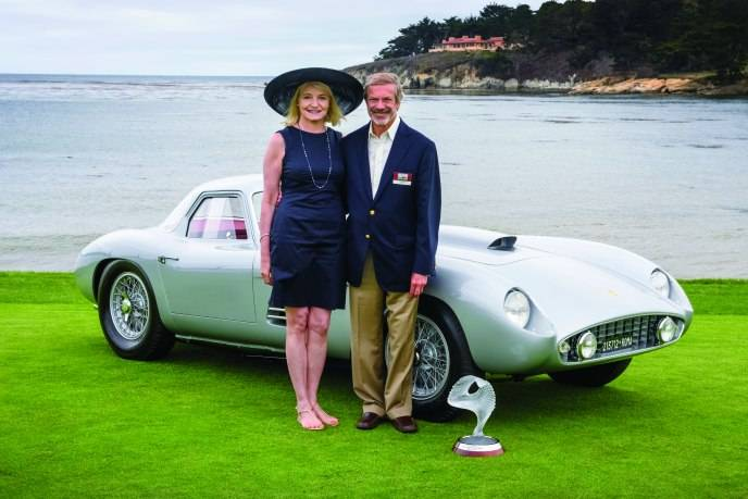 Jon Shirley wins Best of Show with 1954 Ferrari 375MM_Credit Copyright 2014 Kimball Studios, Used Courtesy of Pebble Beach Concours d'Elegance