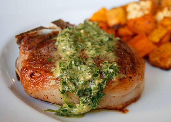Lamb Chop with mint Pesto copy