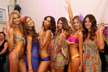 Luli Fama – Mercedes-Benz Fashion Week Swim 2014 – Backstage