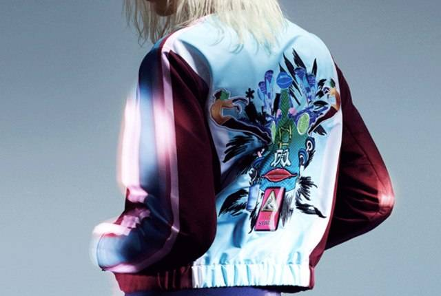 d7acd84610 Designer Mary Katrantzou has collaborated with Adidas Originals on a new   80s-inspired capsule collection. The location for the launch party was