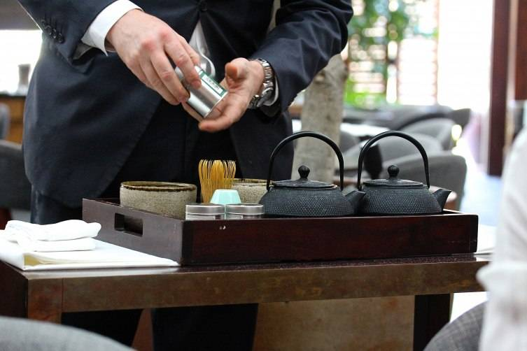 Matcha service at Baltaire
