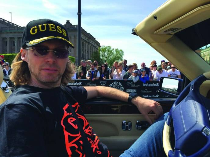 Michael Birch in his Bentley Azure_Gumball 3000 rally in Sweden_Courtesy Michael Birch