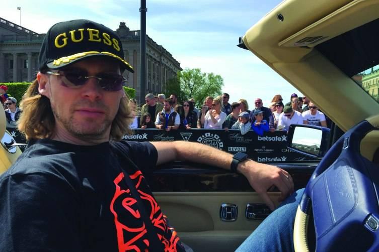 Michael Birch in his Bentley Azure_Gumball 3000 rally in Sweden_Courtesy Michael Birch