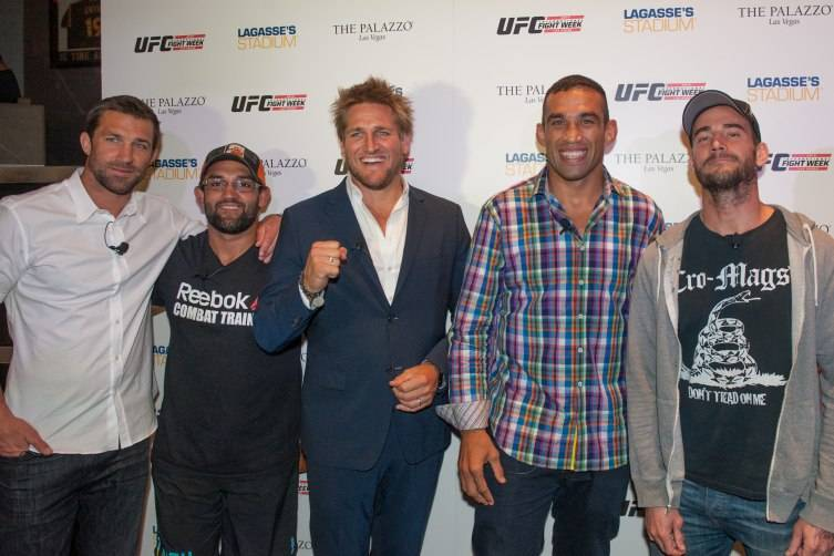 UFC middleweight Luke Rockhold, UFC welterweight Johny Hendricks, Celebrity chef Curtis Stone, UFC heavyweight champion Fabricio Werdum, UFC Middleweight CM Punk