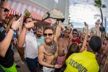 UFC superstar Conor McGregor celebrates his big win against rival Chad Mendes at Foxtail Pool inside SLS Las Vegas July 12_Tony Tran