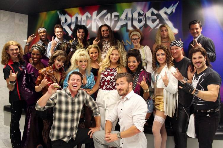 Vanessa Ray and friends at Rock of Ages