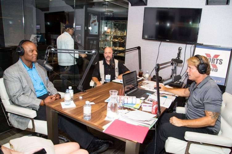 Warren Moon is interviewed by Sports X Radio's Ken Thomson
