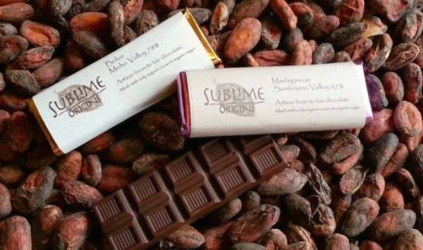 Sublime e makes their chocolate from imported cacao beans.