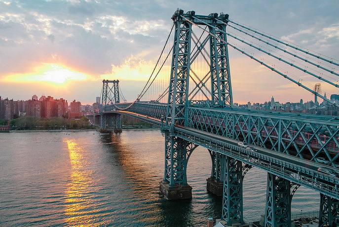 williamsburg-bridge-brooklyn-sunset