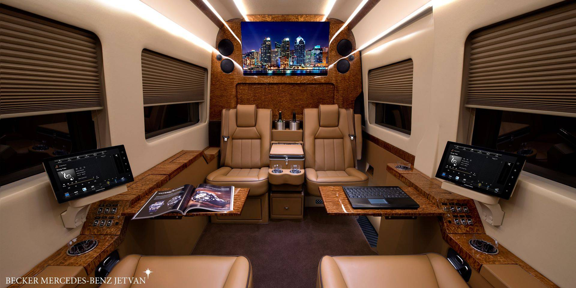 Peek Inside These Luxury Vans For The Rich And Famous