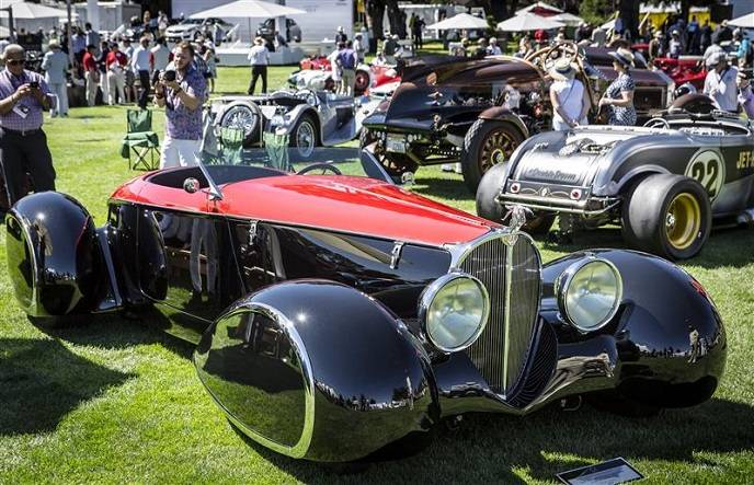 Terry Cook completed this Auburn-Bugatti Delahaye Boattail Speedster only six months ago.