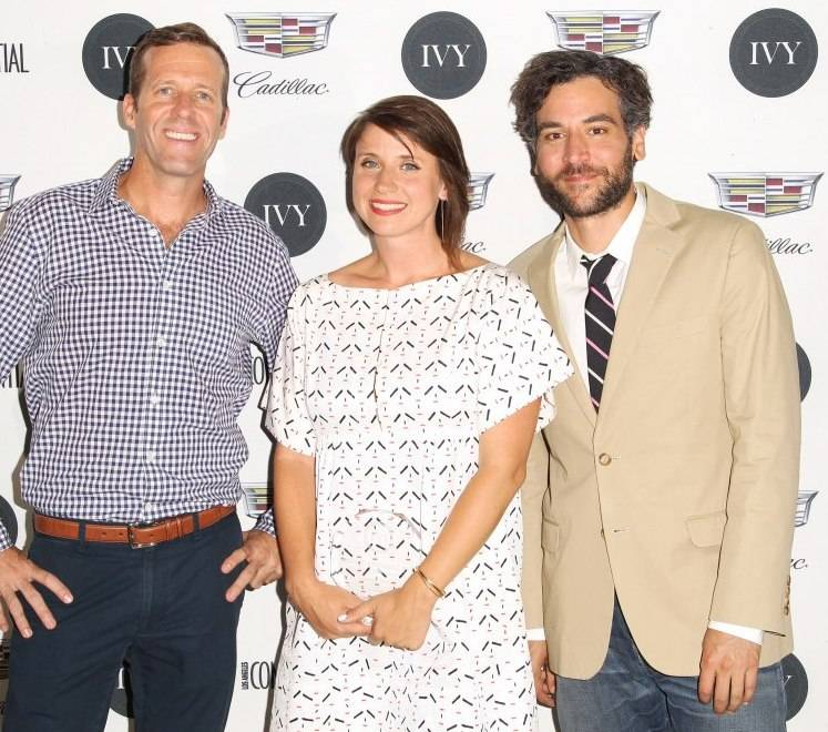 Cadillac's Michael Patrick, IVY Film Innovator Award winner Emily Best, and host Josh Radnor attend the IVY Film Innovator Awards