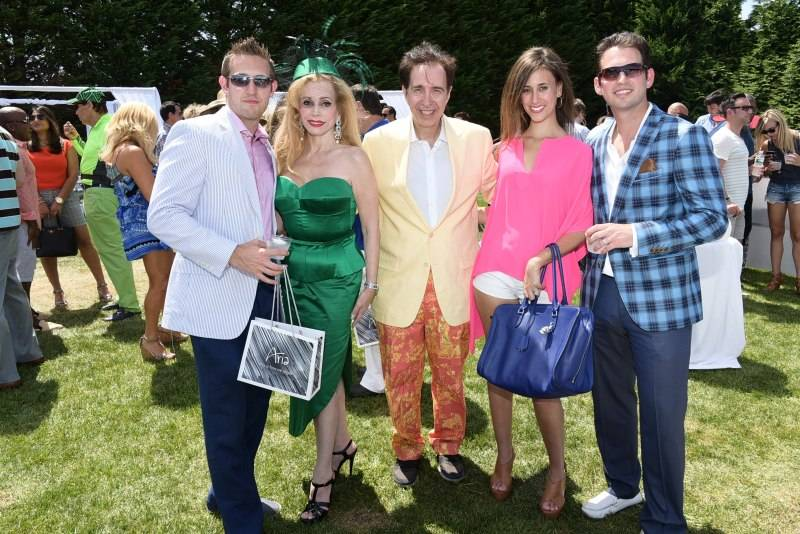 Adam Marks,Joy Marks, Alan Marks,  Alana Marks, and Jonathan Marks attend The Private Ferrari-Maserati Brunch on August 8, 2015 at a private residence in Water Mill. photo by Rob Rich/SocietyAllure.com