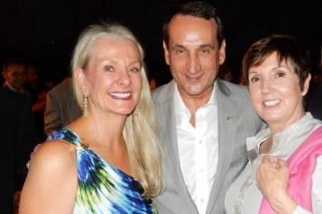 Beth Nickel, Mike Krzyzewski and Mickie Krzyzewski