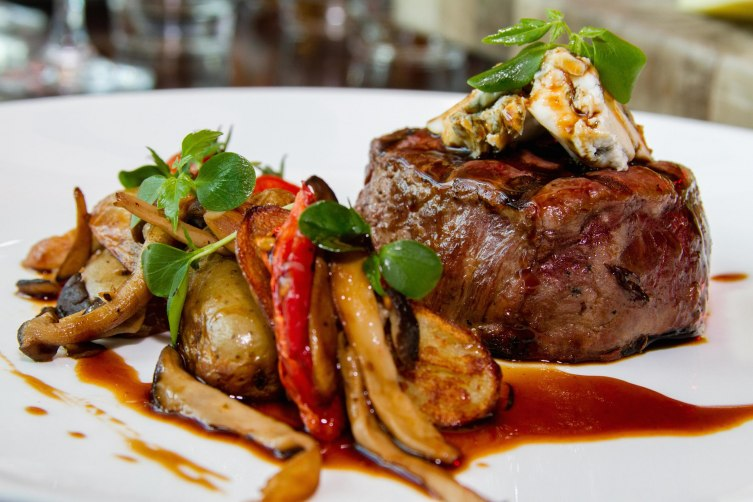 Grilled Angus Beef Tenderloin Sautéed Exotic Mushrooms