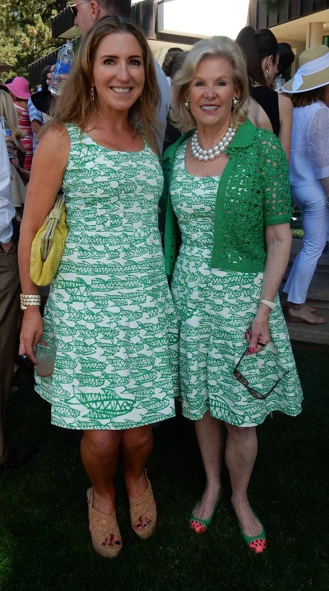 Jessica Hickingbotham and Dede Wilsey in Oscar de la Renta
