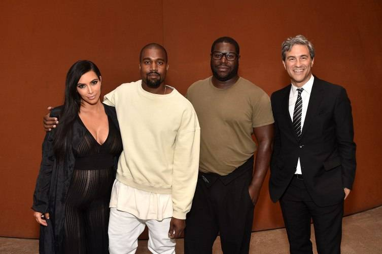 Kim Kardashian, Kayne West, Steve McQueen and LACMA Director and CEO Michael Govan