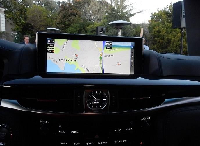 2016 Lexus LX 570 navigation screen