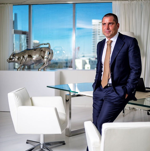 ricardo silva in his downtown miami office